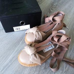 NIB Fenty Puma bow creeper sandals